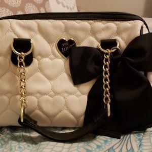 Black and white betsey Johnson purse